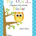 These are Owl binder covers for boys and girls with explanation to parents and binder rules. Choose from 7 different ones. If you prefer an EDITABL...