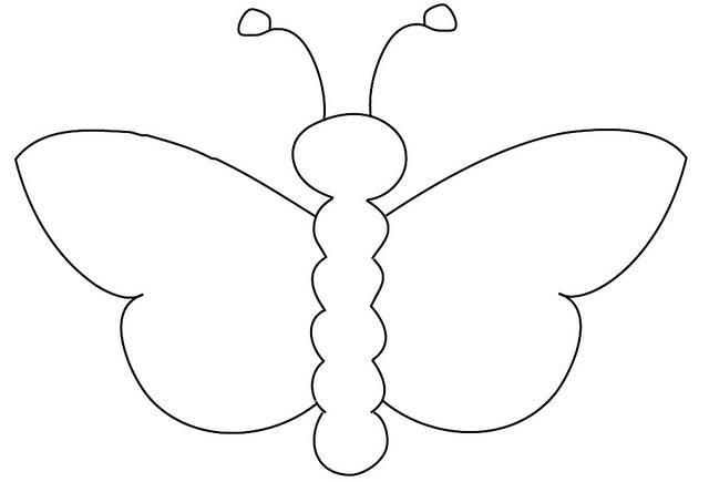 Раскраски бабочки вырезать из бумаги красивая бабочка шаблон для детского творчества