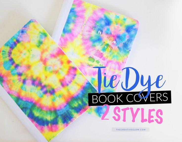 DIY Tie-Dye Notebook Covers! So fun and easy...and cheap!  #DIY #DollarStoreDIY #Tie-Dye #NotebookCovers #BackToSchool