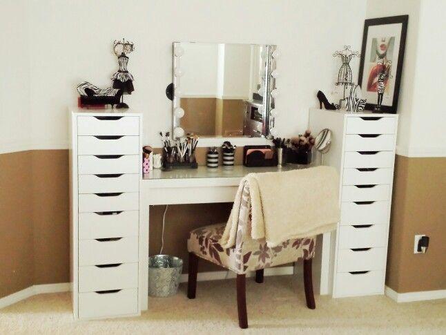 New vanity malm dressing table alex 9 drawer musik - Malm dressing table drawer organizer ...
