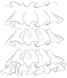 "how to draw ruffles ✤  • Find more at <a href=""https://www.facebook.com/CharacterDesignReferences"" rel=""nofollow"" target=""_blank"">www.facebook.com/...</a>"
