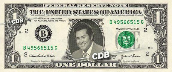 WAYNE NEWTON - Real Dollar Bill Cash Money Collectible Memorabilia Celebrity Novelty by Vincent-the-Artist, $7.77 USD