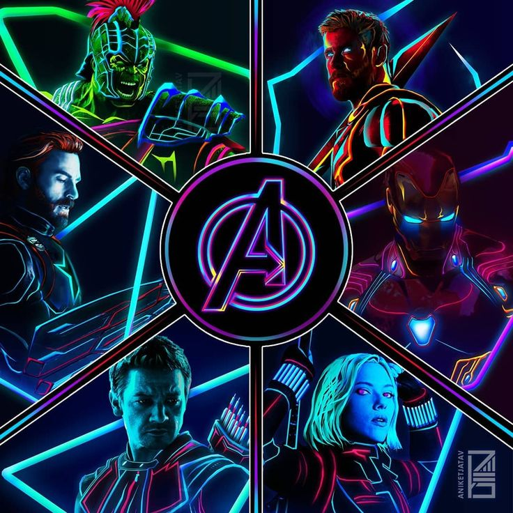 "4,878 Likes, 64 Comments - Aniket Jatav (@aniketjatav) on Instagram: ""Swipe* 62/365 : NEON MARVELS Artwork : 26 - The Old School AVENGERS Line-Up . Also, THANK YOU SO…"""