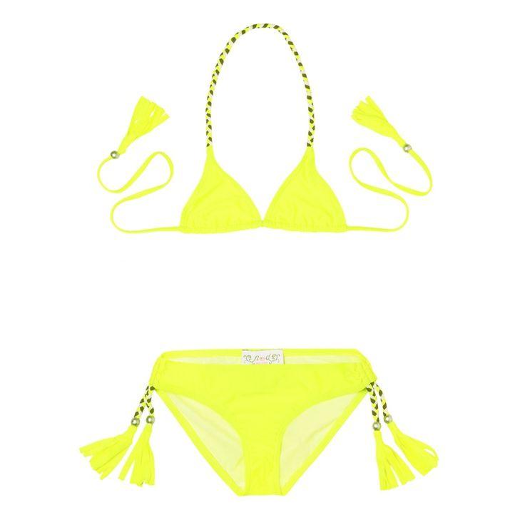Maillot de bain Anouk jaune fluo