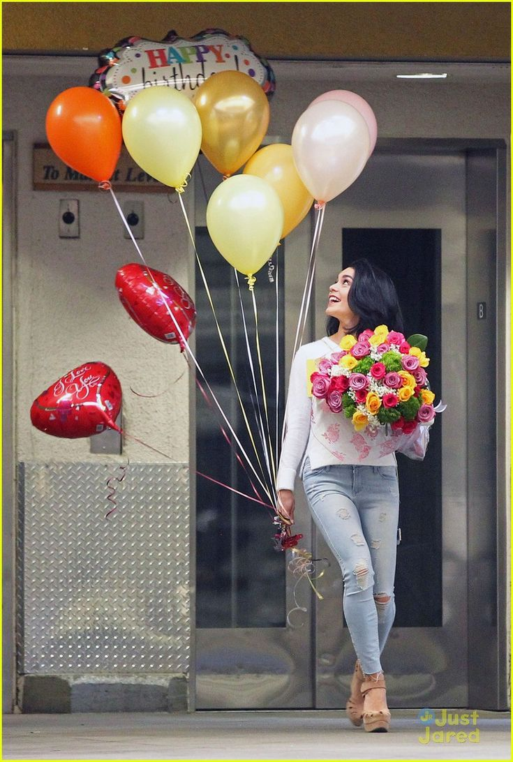Vanessa Hudgens Celebrates Mom Gina's Birthday With Balloons & Flowers: Photo #896515. Vanessa Hudgens went all out for her mom, Gina's, birthday! The 26-year-old actress was seen holding onto a ton of balloons and massive bouquet of flowers meant…