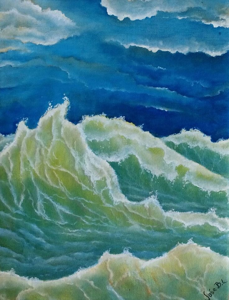 """ The sound of the waves "" Acrylic on canvas 30x22 cm Author: José M. Blanco Lorenzo"