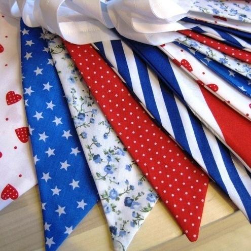 British Red White & Blue Union Jack Fabric ... - Folksy
