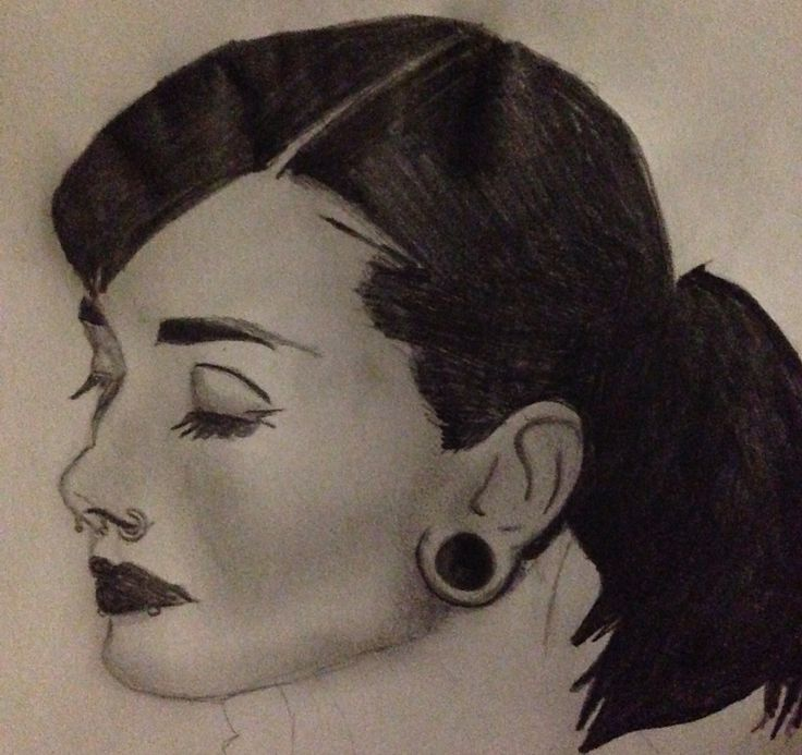 My drawing of Audrey Hepburn