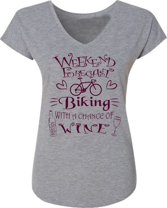 Bicycle T-Shirt for Women-Weekend Forecast-Chance by SpokeNwheelz
