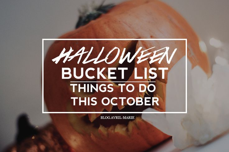 I've decided to come up with a list of some of my favourite things to do during October that get me into the Halloween spirit, and for you to try yourselves. Here is my Halloween Bucket List blog post.