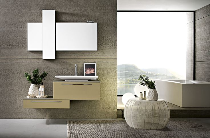 Bagno Play con finitura laccato metallizzato Champagne Z-2 http://www.cerasa.it/it_IT/bagni/moderno/play/mobile-bagni_moderni-play-2012-24-25