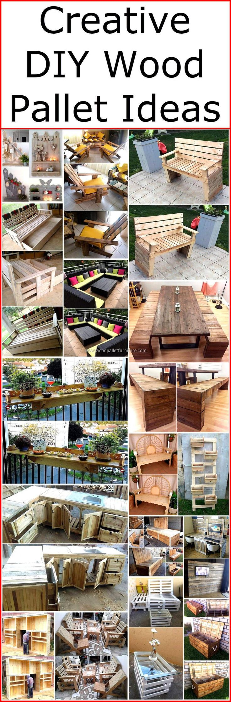 Wood pallets are first choice to embellish your place inexpensively. Re-transformed wood pallets to have astonishing collection at your place. We have provided you creative DIY pallet ideas of crafting house fitting by reusing wood pallets. That will be helpful for you to decor your place spectacularly, for sure. Map out unorthodox look for your place to give fresh and attracting view by using these wonderful creative ideas.
