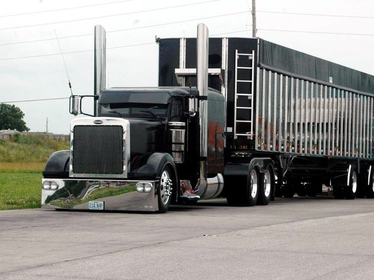 Custom black chrome big rig. Learn How to Find the Best Truck Driving Schools in Florida at http://www.truckdrivingschoolsinfo.com/truck-driving-schools-in-florida/