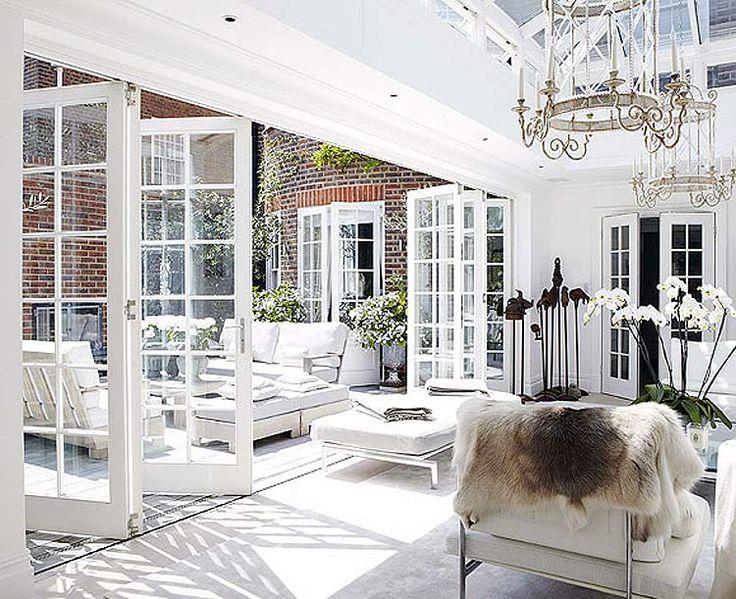 Beautiful indoor/outdoor conservatory,  LOVE THESE DOORS