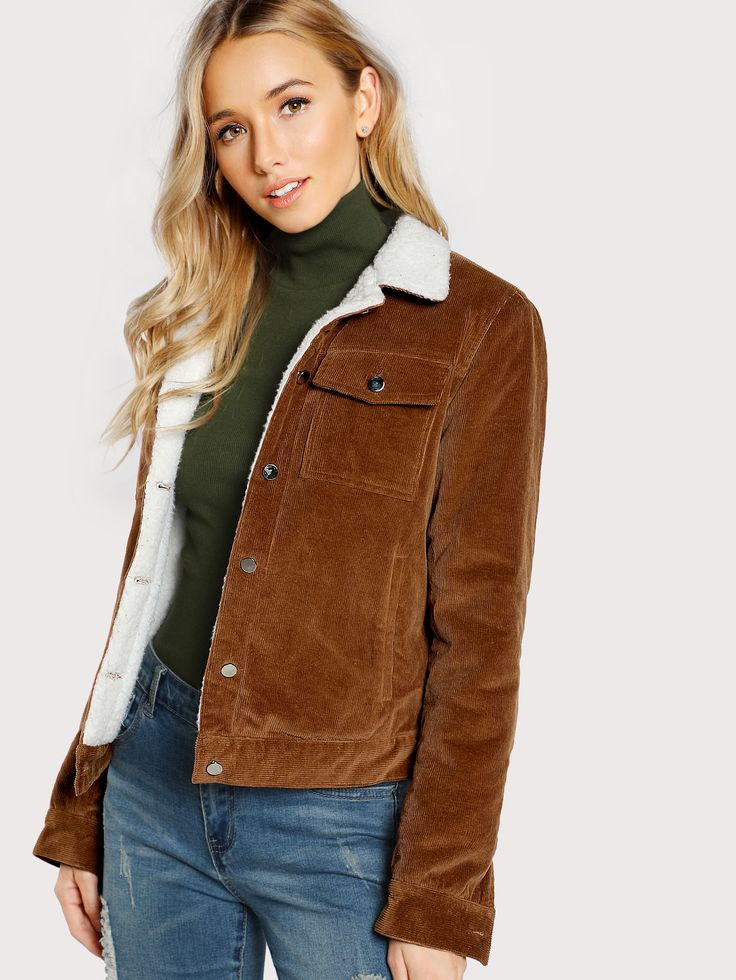 Shop Contrast Fleece Lined Jacket online. SheIn offers Contrast Fleece Lined Jacket & more to fit your fashionable needs.