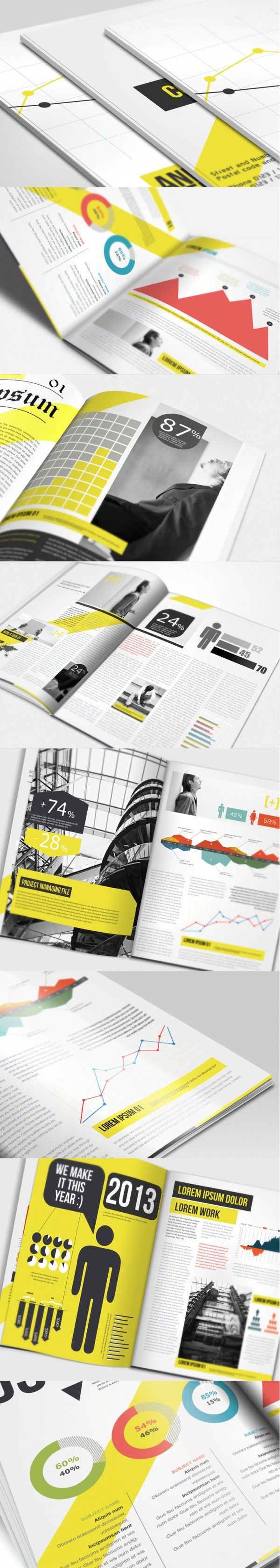 annual report brochure | print design inspiration