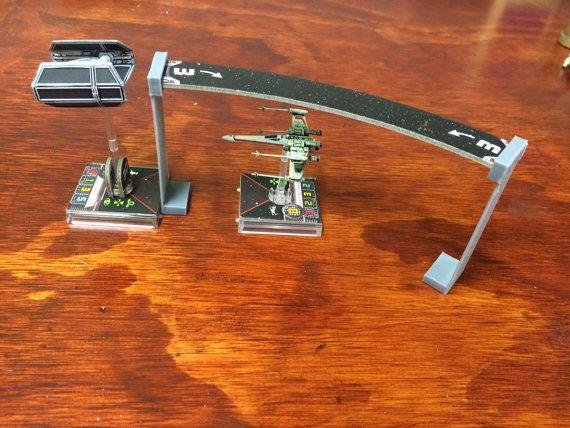 Star Wars X-Wing Miniatures Template Elevator by GearForgeStudio