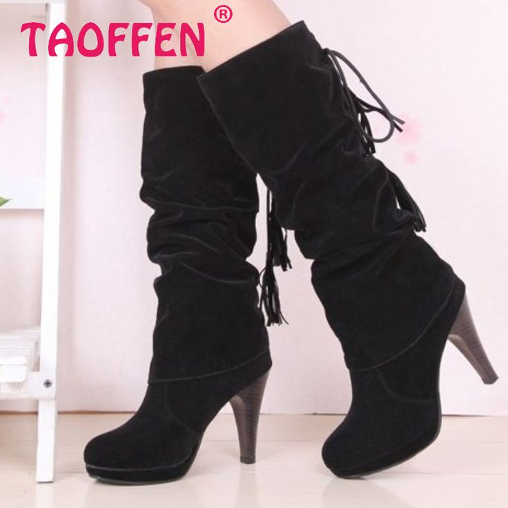 size 30-47 women high heel half short ankle boots autumn winter boot botas martin warm chaussure femme footwear shoes P20288 alishoppbrasil