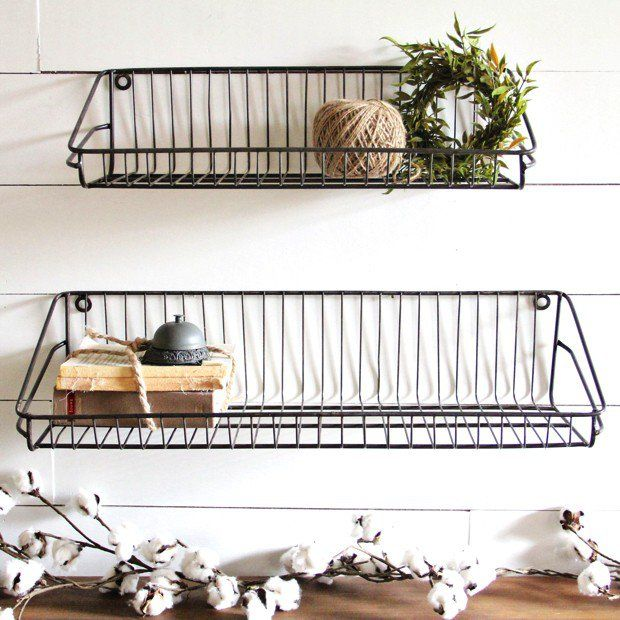 Ludovic Wire Wall Shelves, Set of 2