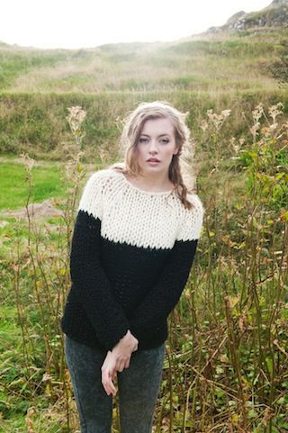 The Island Wool Company- Faroese By Design - Nordic By Nature - Black & White Jumper