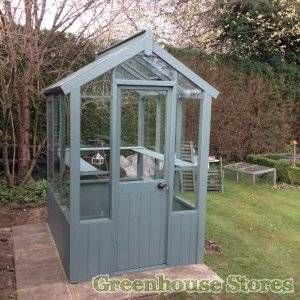 Cotswold 4ft Wide Wooden Greenhouse Painted