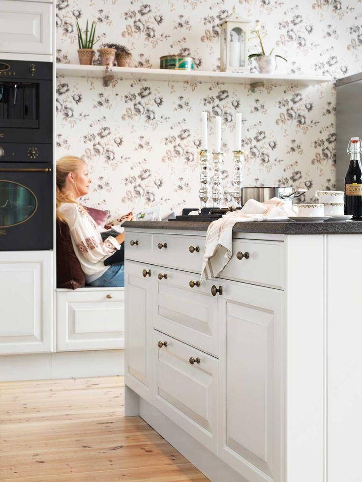 Köksinspiration -  Kök i pärlgrå - Meny