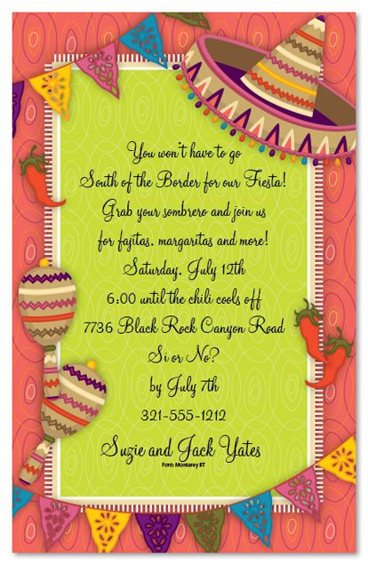 mexican parties | Mexican Party Party Invitations, 22319 ...