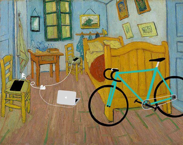 la chambre de van gogh des smartphones dans des classiques de la peinture van gogh tablette. Black Bedroom Furniture Sets. Home Design Ideas