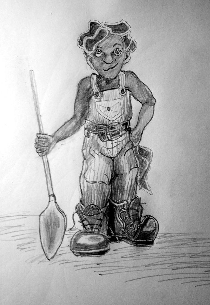 Entry 45 'Fandri' in pencil by Michelle Rene Goodhew #fantasy #art