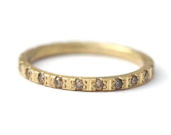 Anello di nozze perle con oro 18 carati di diamanti di artemer