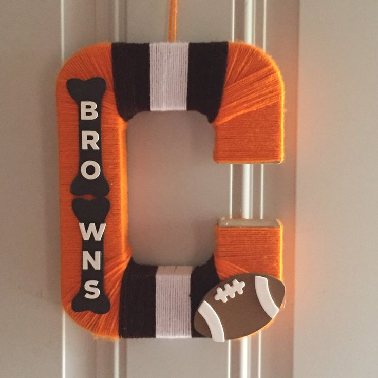 Cleveland Browns Wreath by HayheesDesigns on Etsy