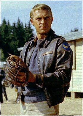 "Steve McQueen as Capt. Virgil Hilts, the ""Cooler King"" ~ The Great Escape (1963)"