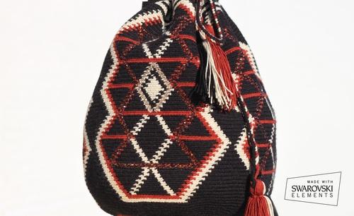 Wayuu Mochilla (Susu Bag) / Tote / Festival Bag / Mochilla Bag / Wayuu Taya / Vacation / Resort Wear / Swarovski Crystals (Handmade) Shop at poshavenueboutique.com