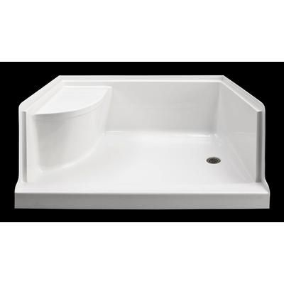 mirolin ellis 60 xl acrylic shower base with seat right hand eb6036rs