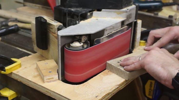 Quick and Easy Belt Sander Jig From Scraps