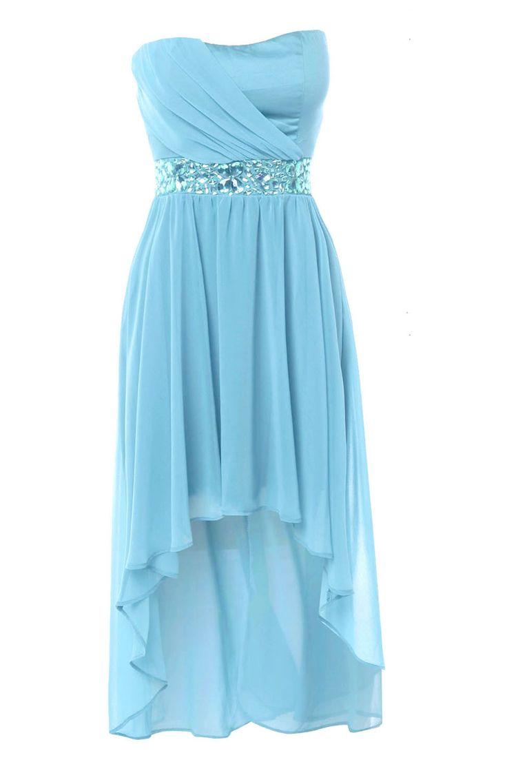 Gorgeous blue bridesmaid dress! Jewel Embellished Mullet Dress.