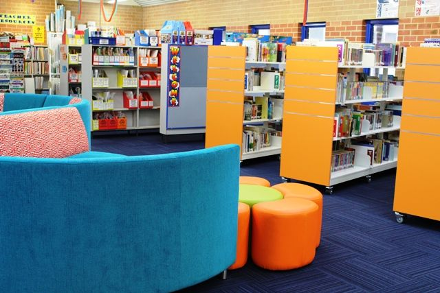 Add colourful bay-end panels to existing shelving to give your library a face-lift