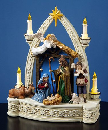 Candlelit Musical Nativity Figurine by The San Francisco Music Box Company #zulily #zulilyfinds