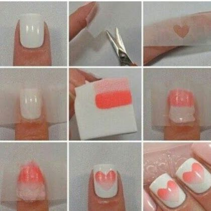 Shaded Heart Nail Art Tutorial