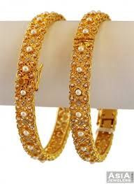 Image result for gold bangle with pearls