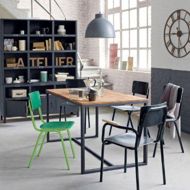 buffet 3 portes acier hiba industrial loft lofts and industrial. Black Bedroom Furniture Sets. Home Design Ideas