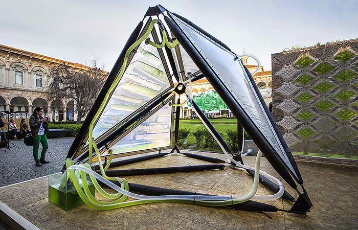 Bio-Digital City Structures - Urban Algae Canopy by ecoLogicStudio Cleans Air in Metropolises (GALLERY)Futurist, Eco, Public art