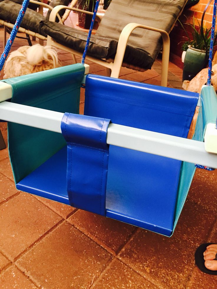 Durable PVC double bucket seat swing.  Find us on Facebook