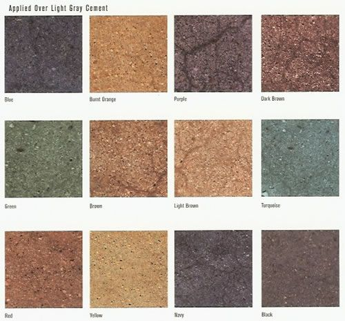 77 Best Concrete Stain Colors Images On Pinterest