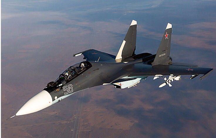 A Russian Air Force Sukhoi Su-30MS.