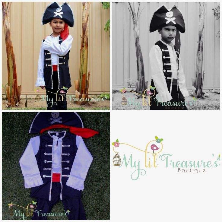 Ahoy me hearties something for the Li'l Man in your life?  How about this cool pirate costume! ($32.95) 100% Polyester  *Small (fits most 2 - 4 year olds)  * Medium (fits most 5 - 7 year olds)  *Some slight colour variations may be noticed from computer/device screens to that of the actual item*