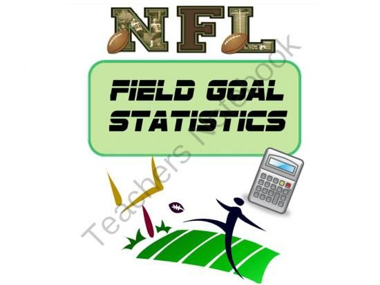 Statistics using football: Hands on activity where students use real NFL statistics from the 2012 season to calculate the decimal and percentage of successful kicks of several kickers.   Students will read to perform a task in or…