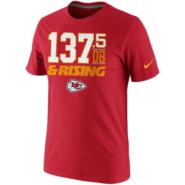 Nike Kansas City Chiefs 137.5DB & Rising T-Shirt - Red - $20.99