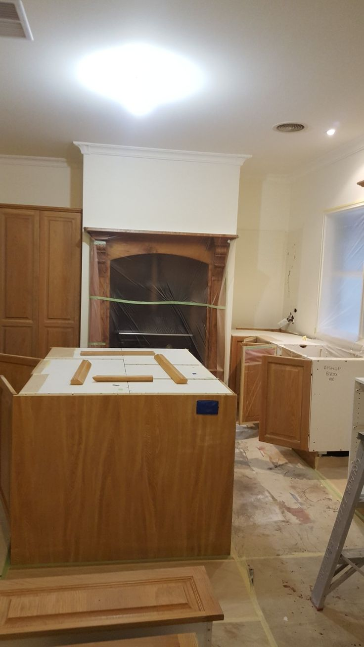 Before photo of timber kitchen lilydale.
