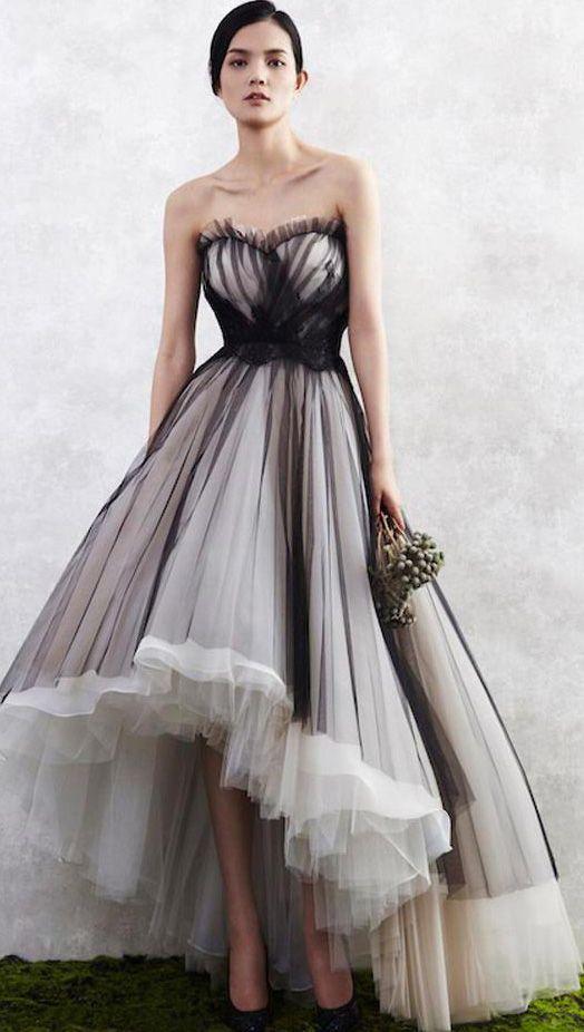 Black On White High Low Dress Dresses Skirts Prom Dresses